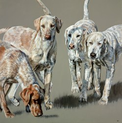 Beaufort II by Vicky Palmer - Original Painting on Box Canvas sized 30x30 inches. Available from Whitewall Galleries